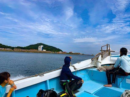 2020年初伊王島ボートダイブ