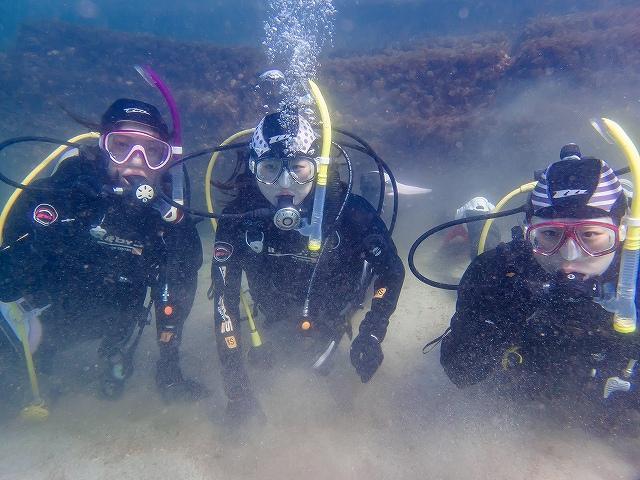 冬の長崎で体験ダイビング