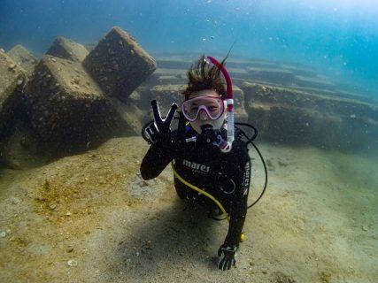 長崎の海で初めての体験ダイビング