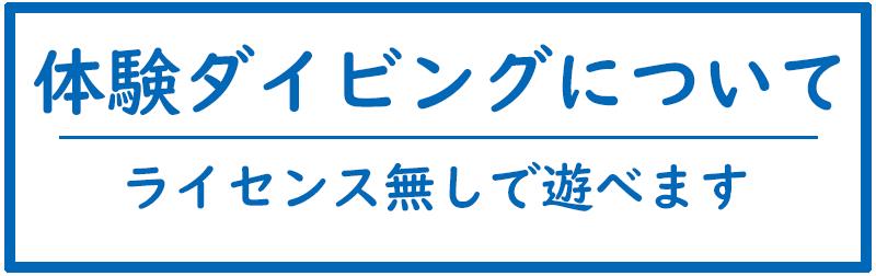 長崎体験ダイビングについて